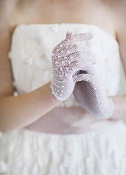 Siateczkowe rękawiczki dla panny młodej