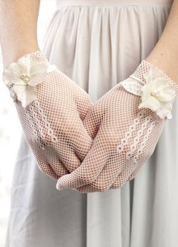 Siateczkowe rękawiczki ślubne
