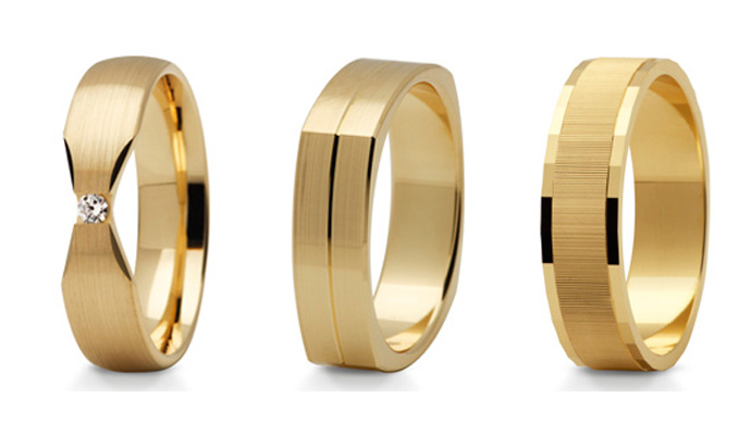 Złote obrączki o różnej próbie złota