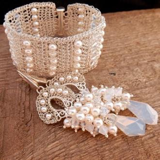 Komplet biżuterii ślubnej Pernovia