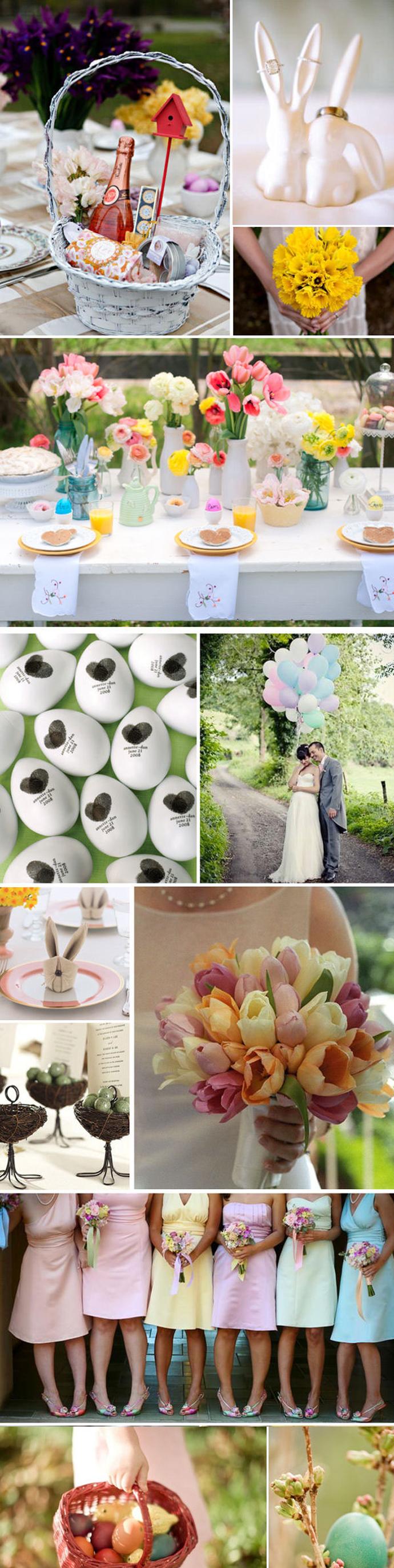 Wielkanocne dekoracje ślubne