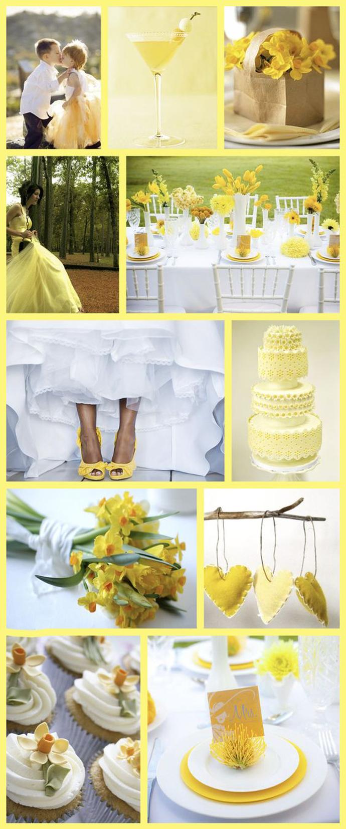 Żółte wielkanocne inspiracje ślubne