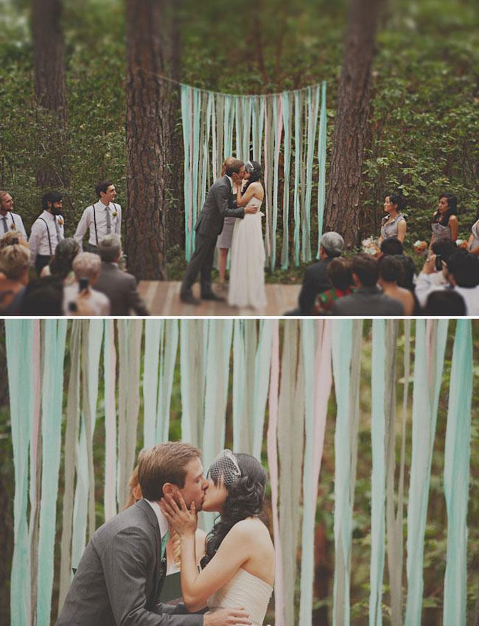 Dekoracja ślubna z papieru
