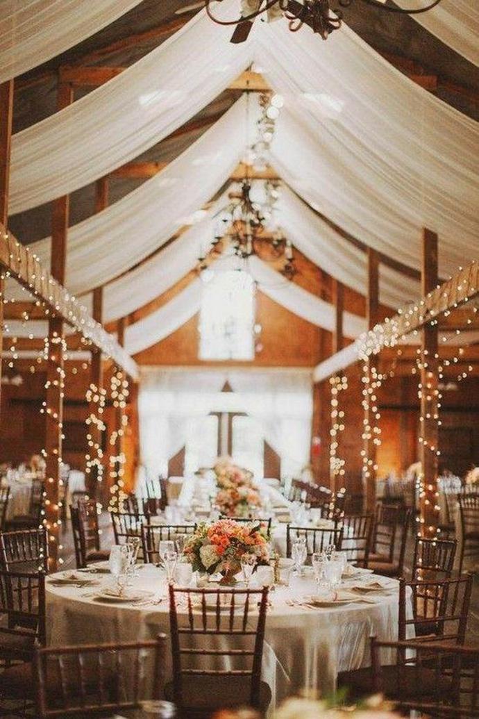 Elegancka sala na rustykalne wesele