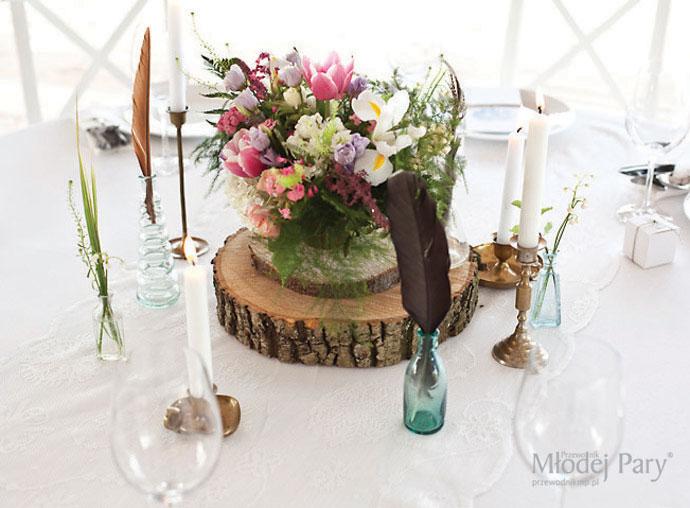Rustykalny boho stół weselny