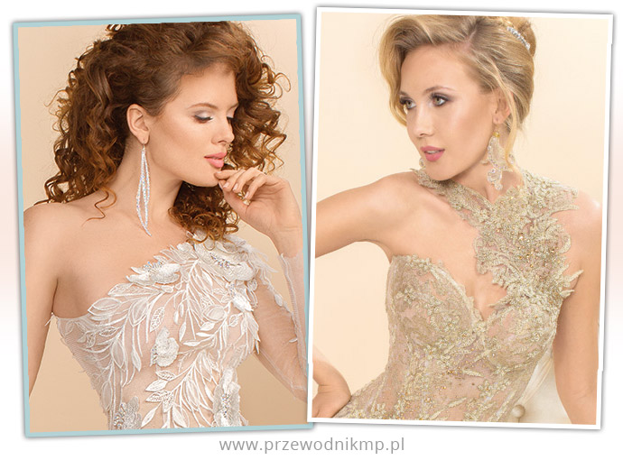 Dekolty asymetryczne w sukniach ślubnych