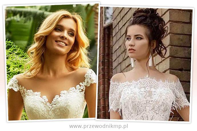 Dekolt hiszpański w sukniach ślubnych
