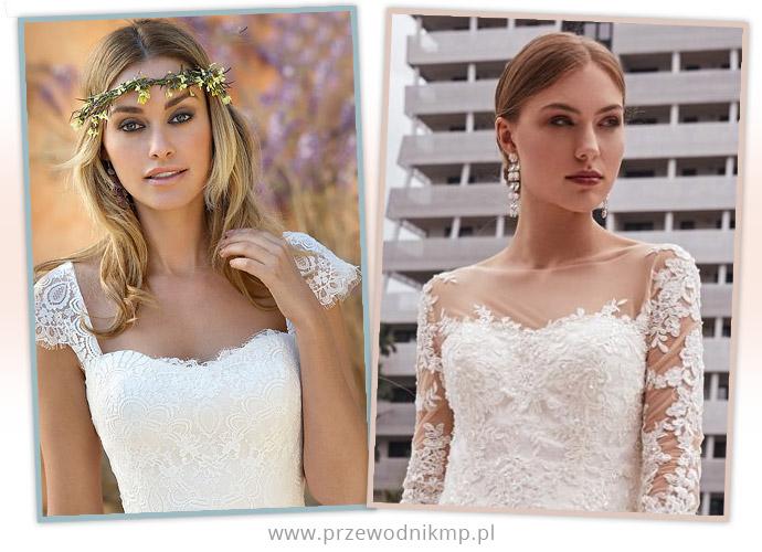 Dekolty kwadratowe w sukniach ślubnych