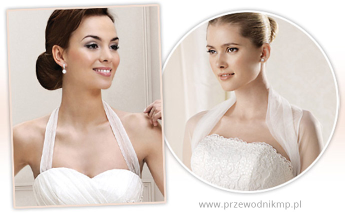 Dekolty amerykańskie w sukniach ślubnych