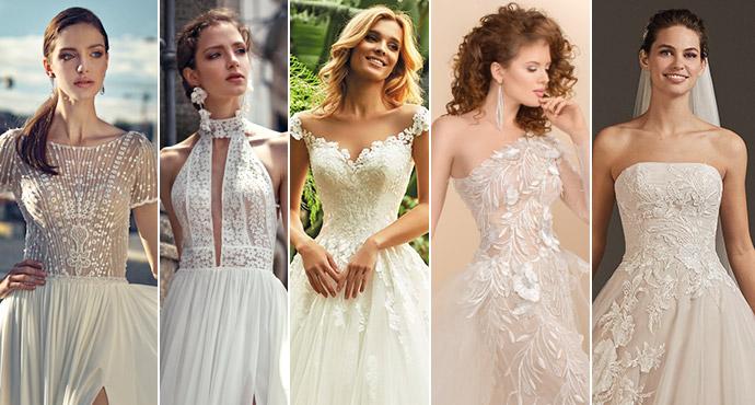 Kształty dekoltów w sukniach ślubnych