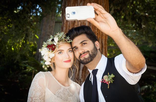 Selfie młodej pary