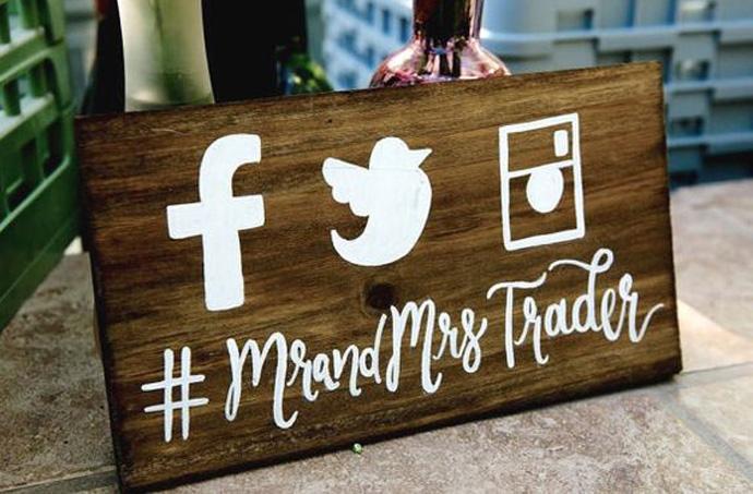 Hasztag ślubny do mediów społecznościowych