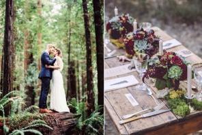 Ślub i wesele – motyw lasu