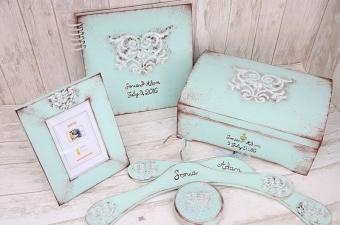 wieszaki ślubne - do kompletu pudełka na kartki i obrączki, księga gości, ramka - MadameAllure.pl_cena zależna od wielkości zestawu