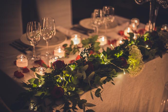 Romantyczny stół weselny