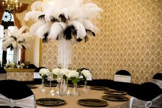 Czerń i biel w dekoracjach slubnych