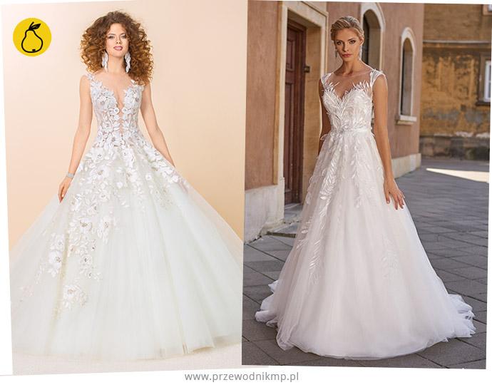 Suknie ślubne dla sylwetki o kształcie gruszki