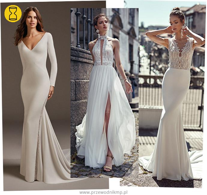 Suknia ślubna do sylwetki klepsydra