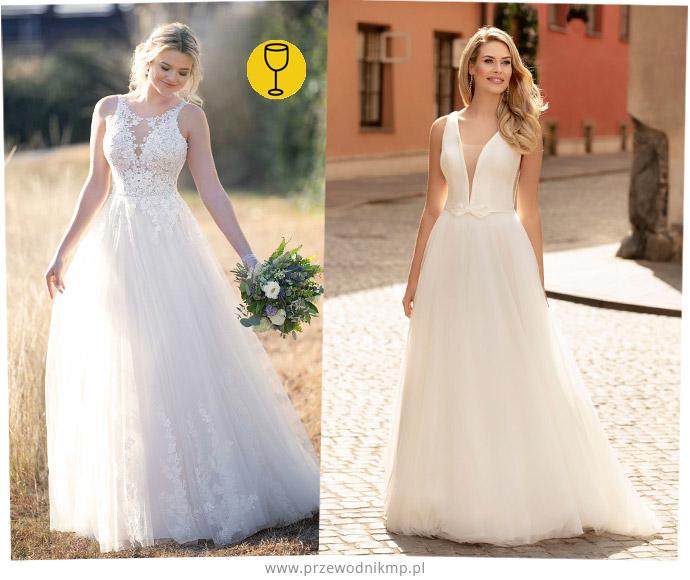 Suknie ślubne dla sylwetki kielich