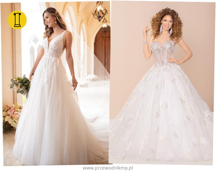 Suknie ślubne dla sylwetki o kształcie kolumny