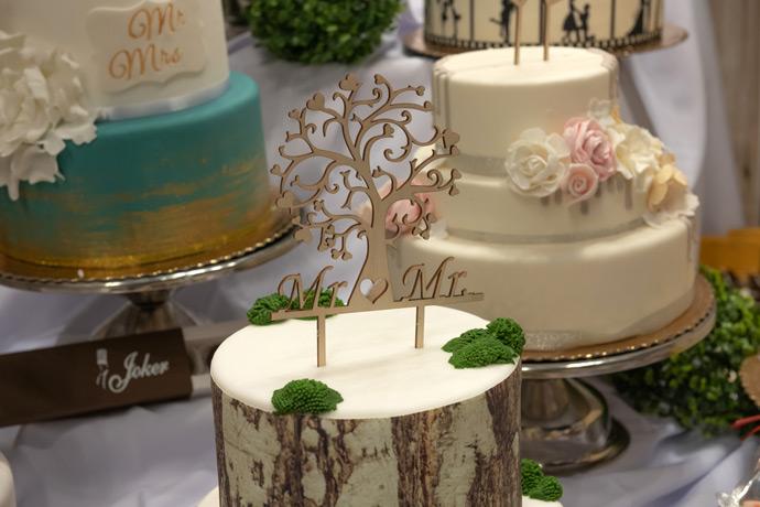 Stoisko z tortami ślubnymi na targach w Orbicie