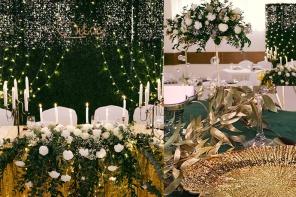 Butelkowa zieleń w dekoracjach ślubnych