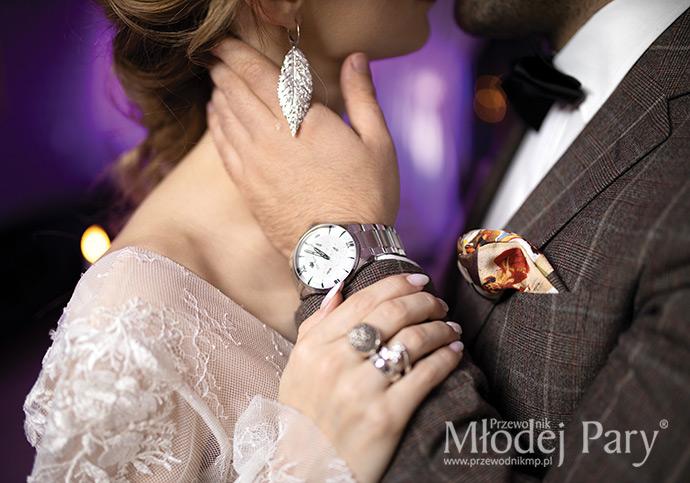 Biżuteria i zegarek na ślub