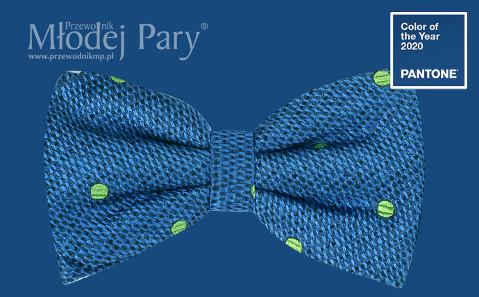 Kolor roku 2020 classic blue mucha do ślubu