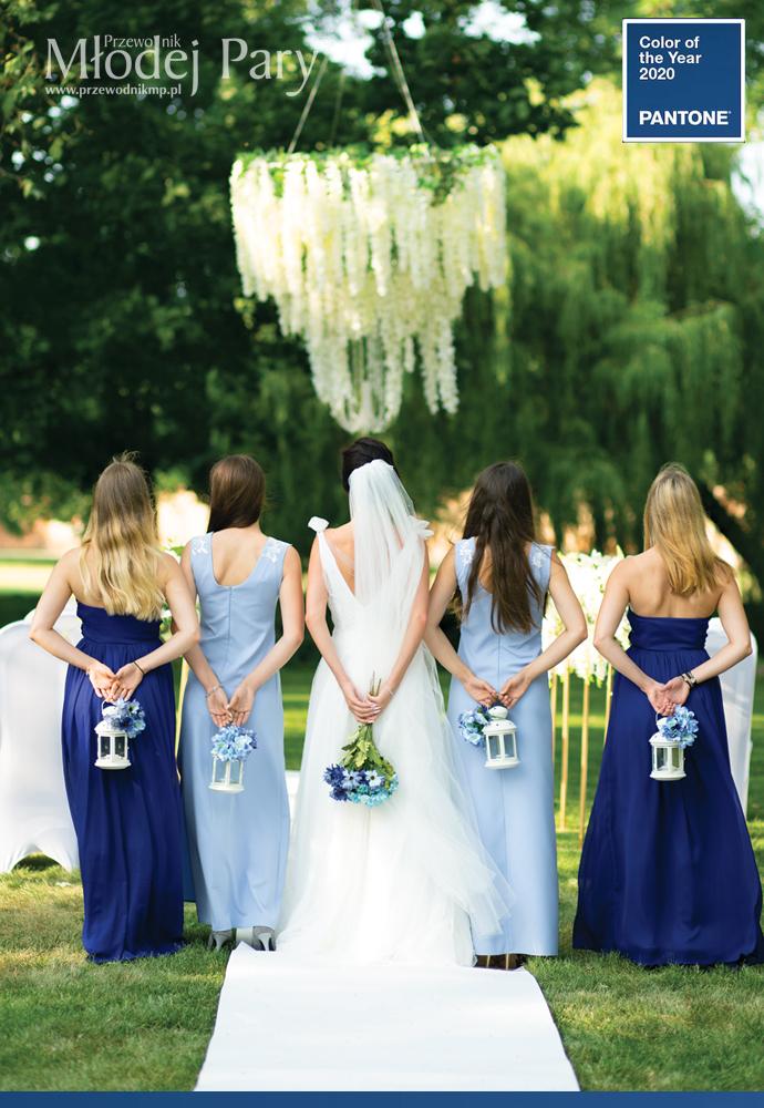 Druhny i kwiaty classic blue na ślub
