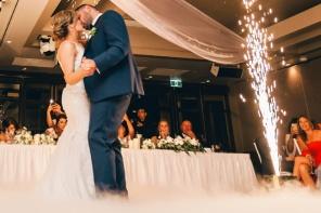 Pierwszy taniec nowożeńców na sali