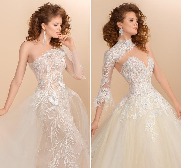 Asymetryczne suknie ślubne dla awangardowych panien młodych