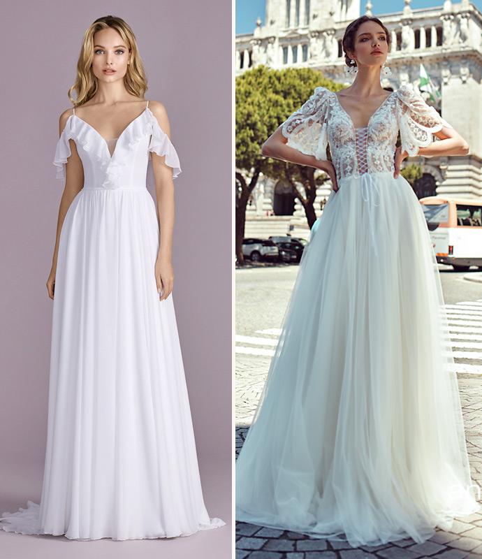 Wyszukane rękawki w sukni ślubnej