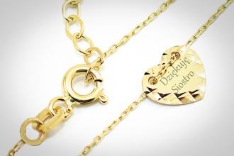 Personalizowanie laserem biżuterii złotej i srebrnej