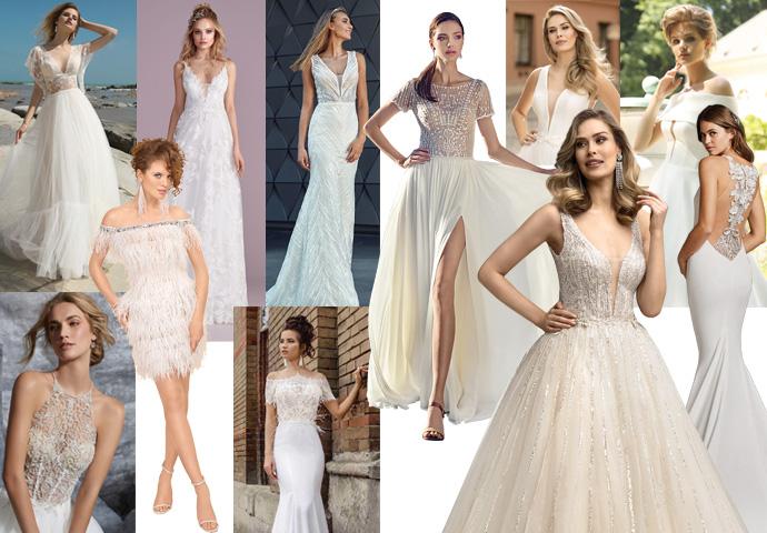 Trendy 2020 w sukniach ślubnych