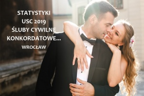 Statystyki ślubne za 2019 rok USC we Wrocławiu