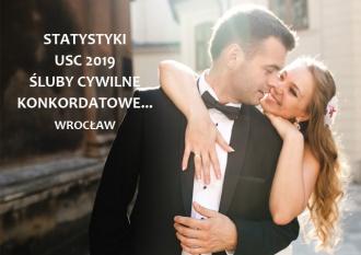Statystyki ślubne 2019 rok we Wrocławiu