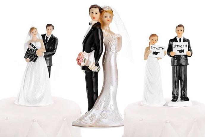 Ozdobne figurki na tort weselny
