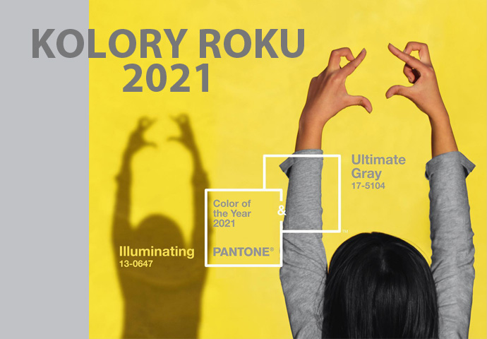 Kolory roku 2021 illuminating i ultimate gray